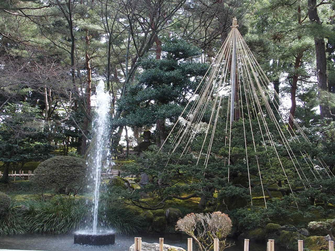 金沢兼六園にある日本最古の噴水