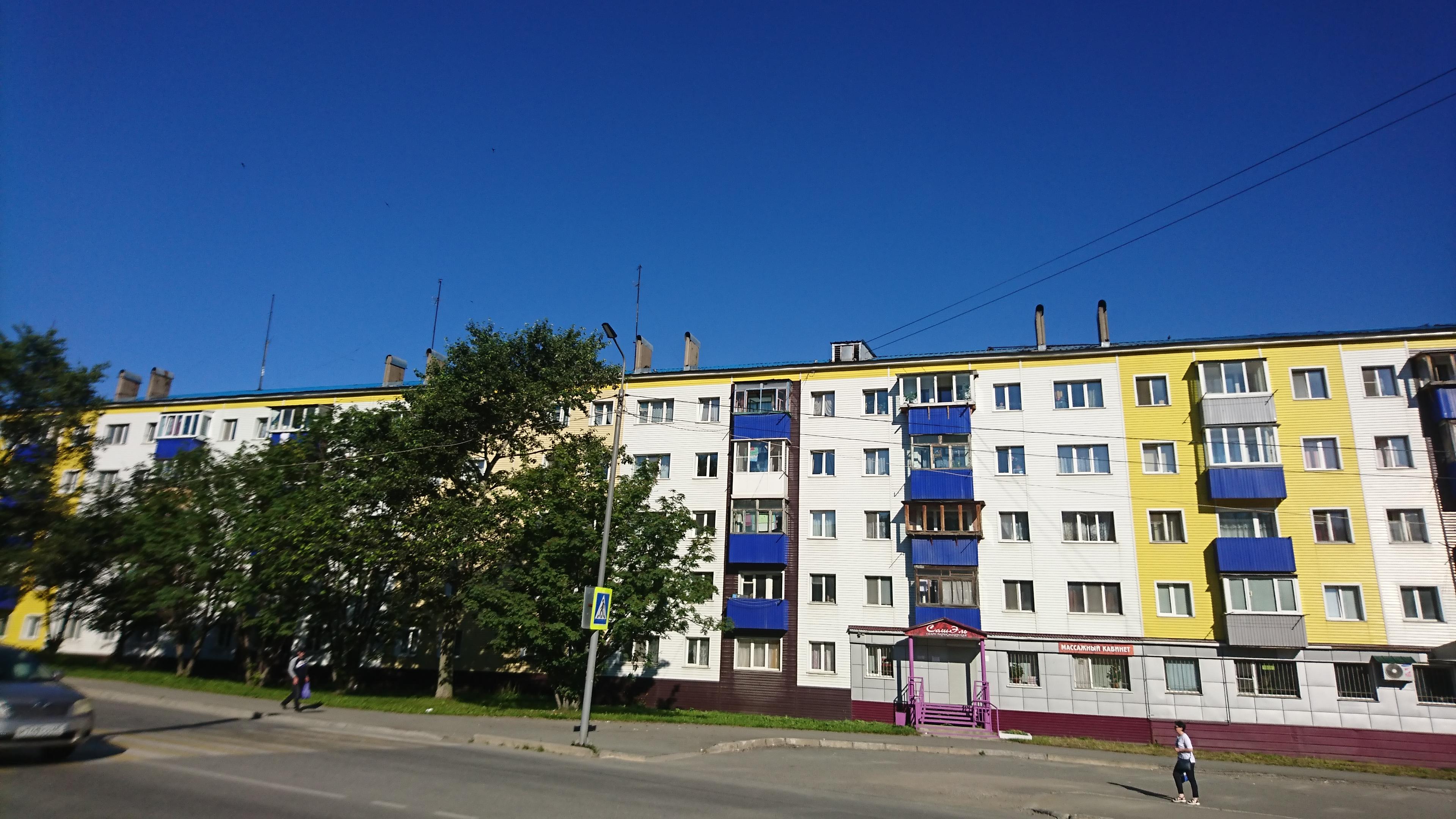 ダイヤモンドプリンセスで寄港したコルサコフの街並