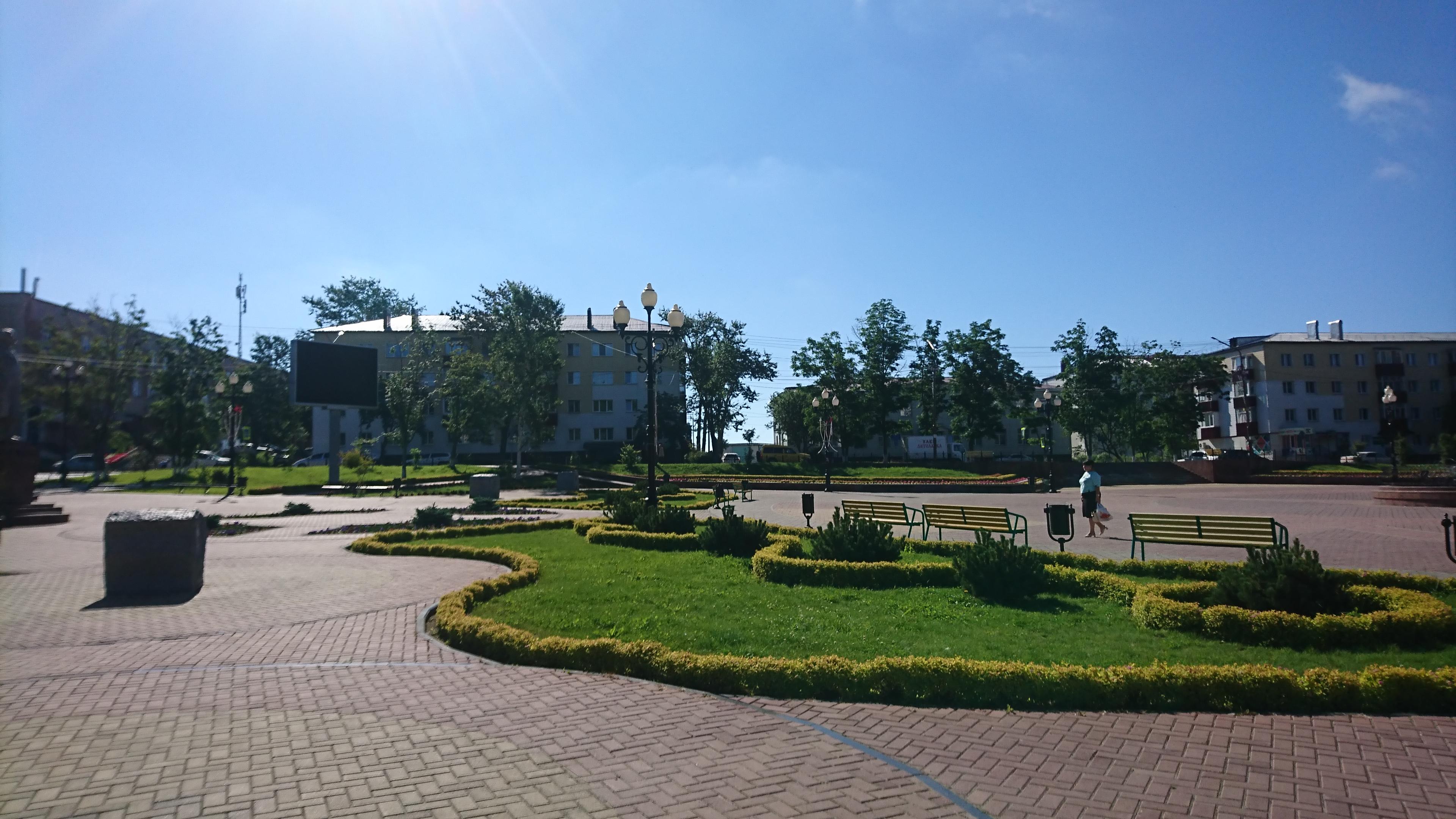 ダイヤモンドプリンセスで寄港したコルサコフのレーニン広場