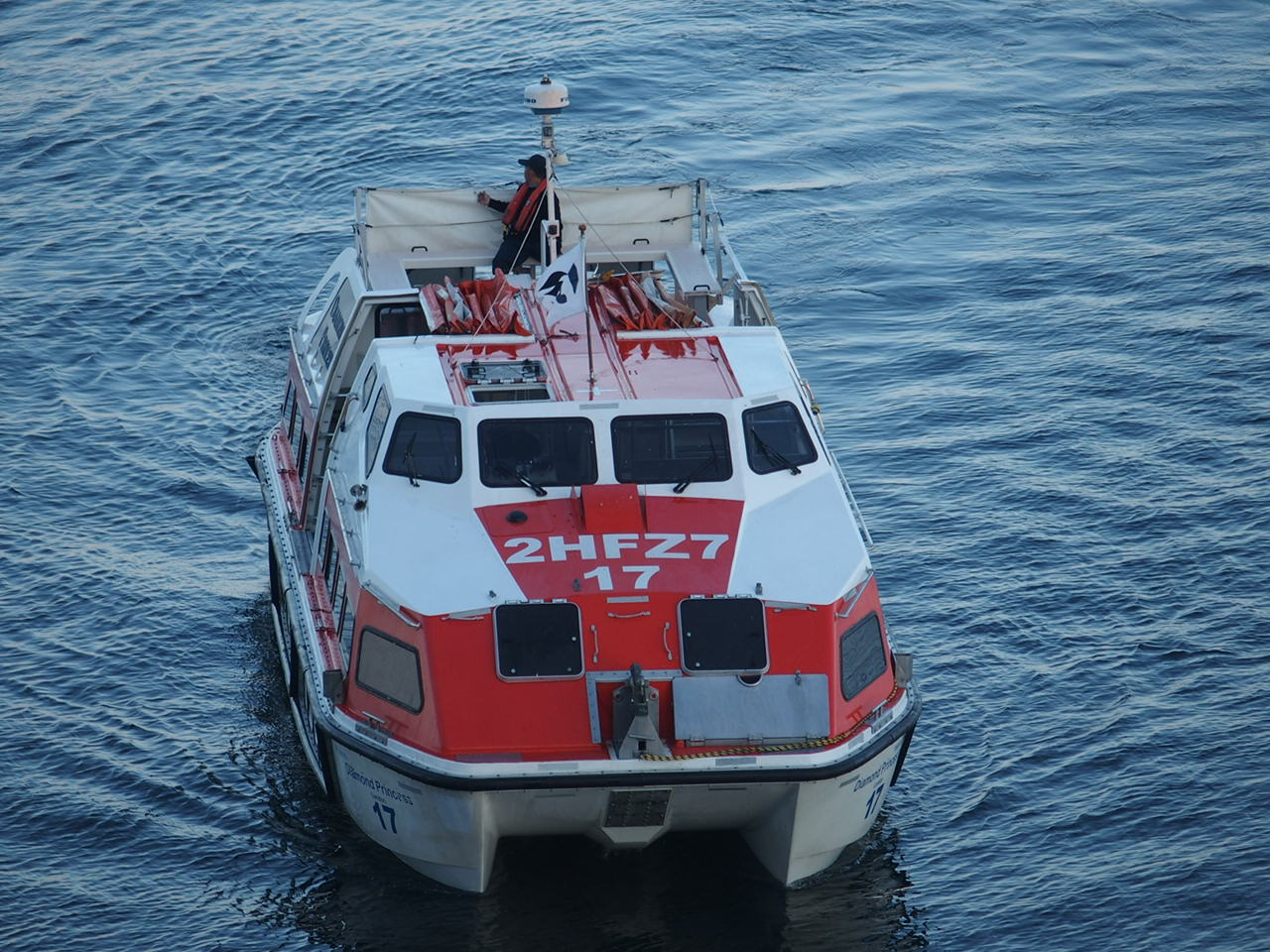ダイヤモンドプリンセスのテンダーボート