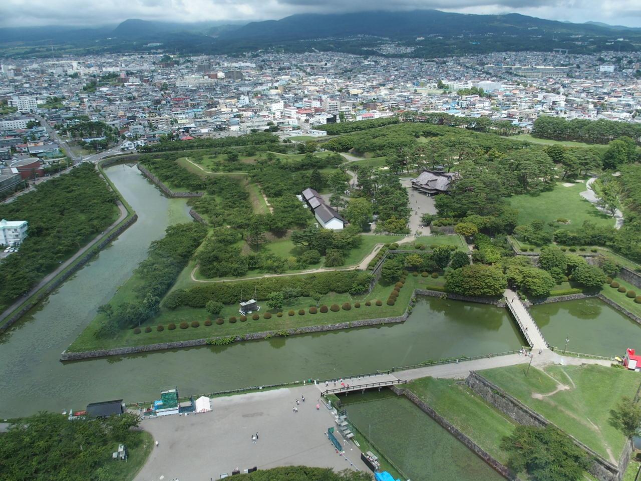 函館の五稜郭タワーからの景色