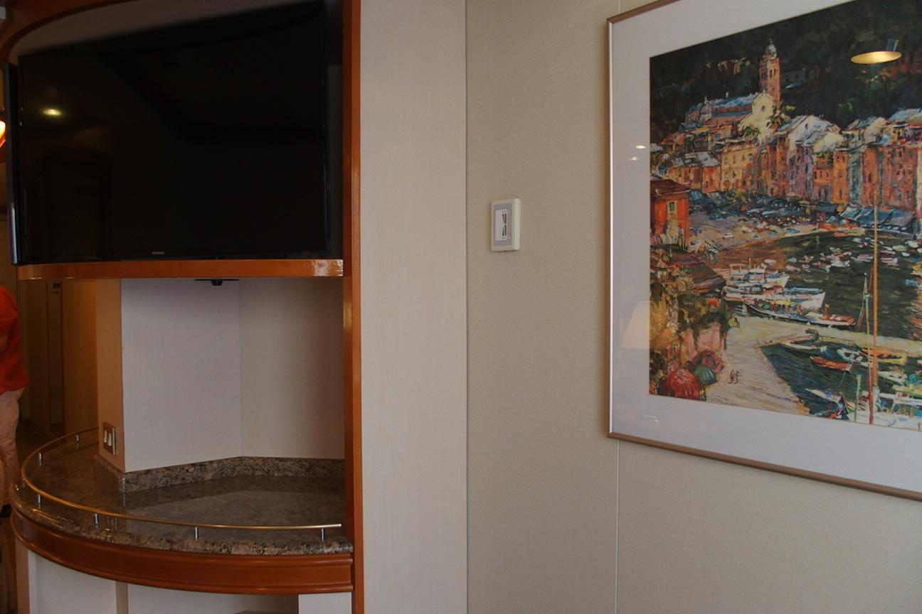 ダイヤモンドプリンセスのジュニアスイートの客室