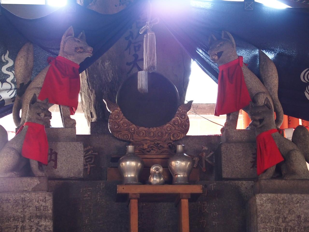 京都の伏見稲荷大社の熊鷹社