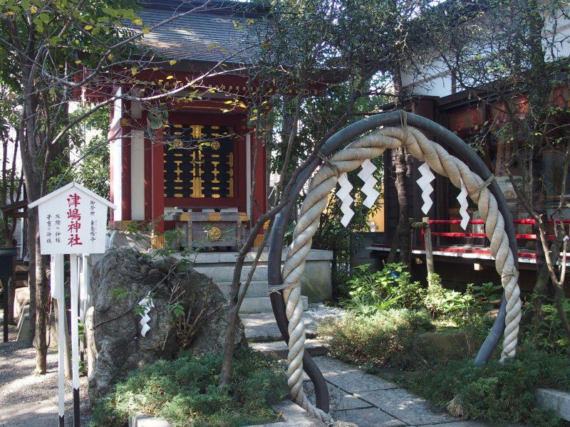 田無神社の境内にある津島神社のご利益は安産、子宝