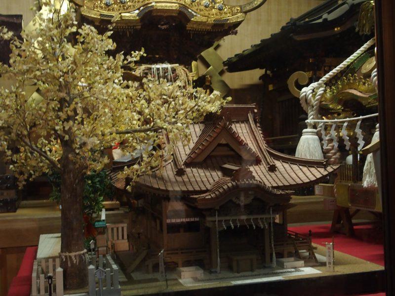 田無神社の模型