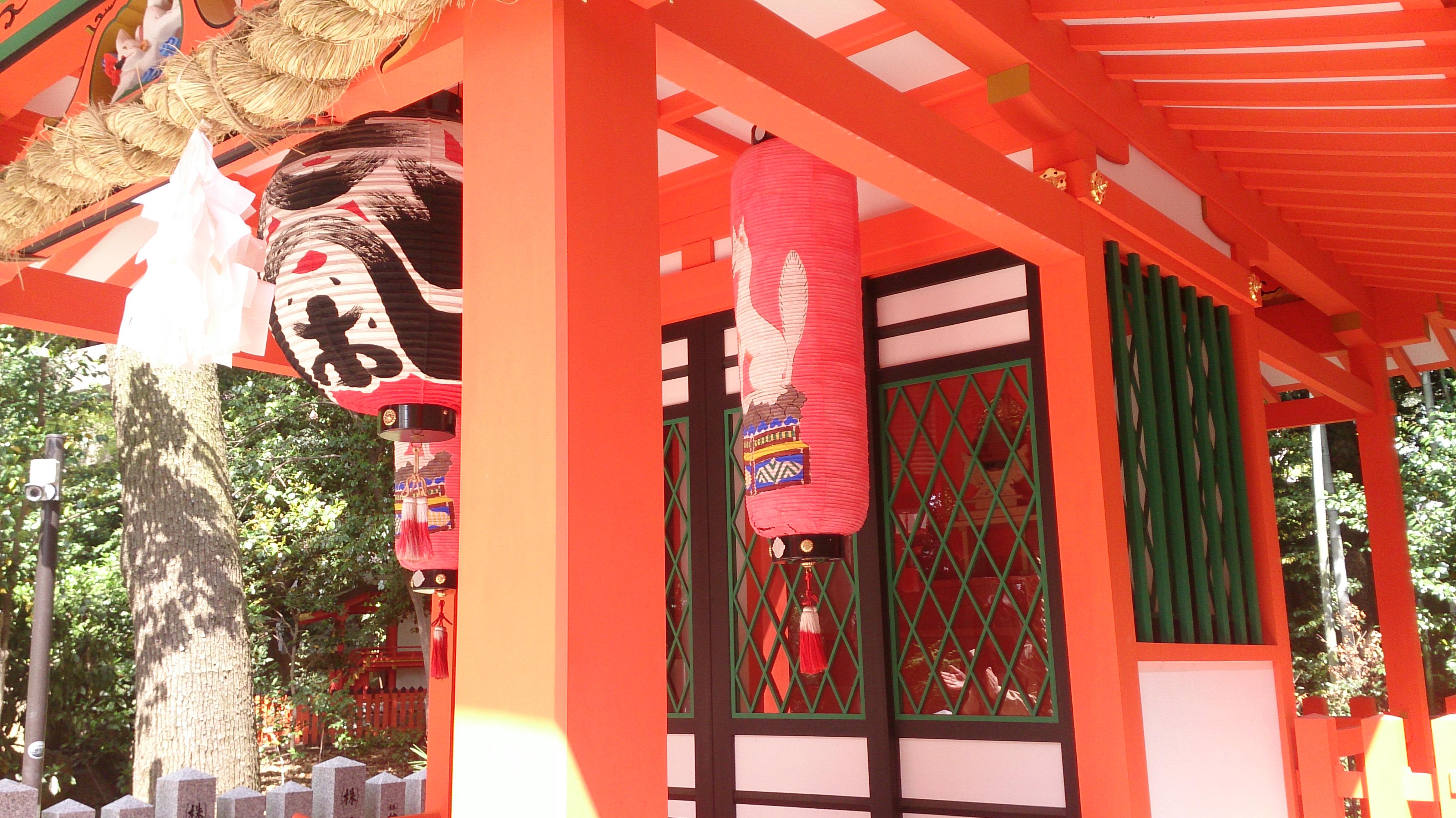 生田神社の境内にある生田大明神