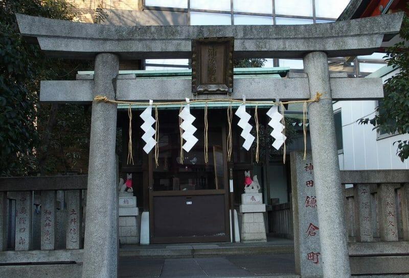 神田明神境内にある浦安稲荷神社