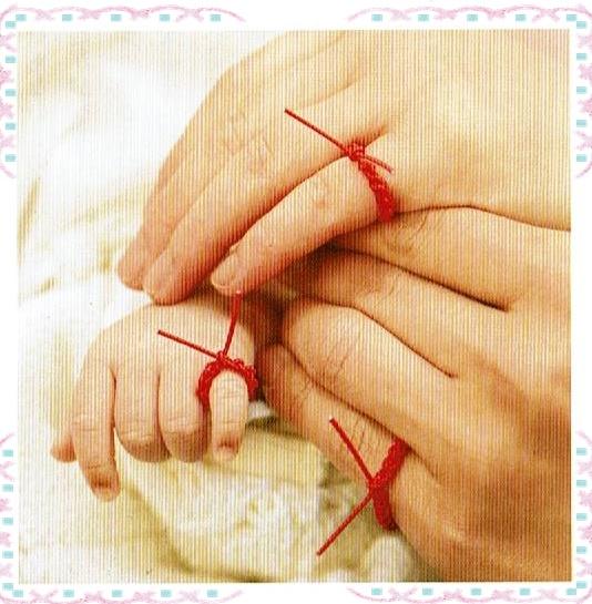 川越氷川神社の赤ちゃんの結い紐