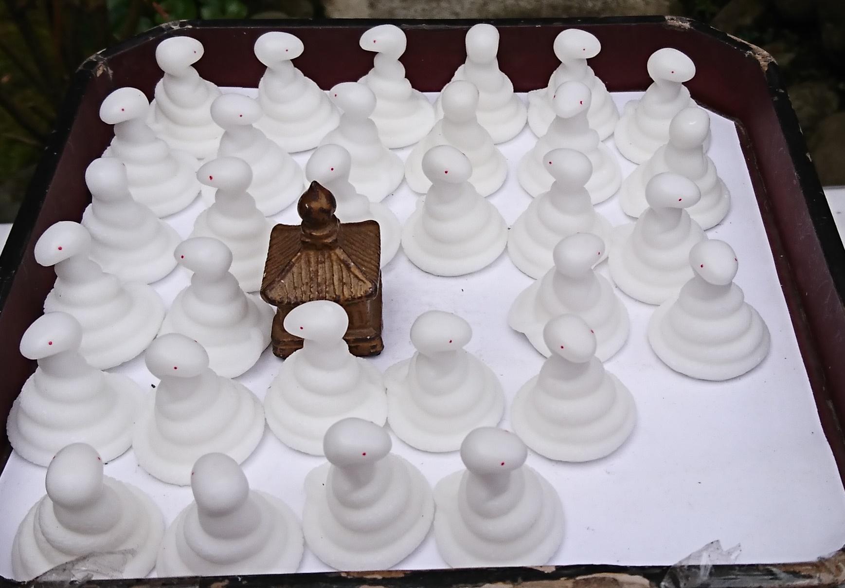 江ノ島神社の奉安殿の入り口にある願立ての巳さま