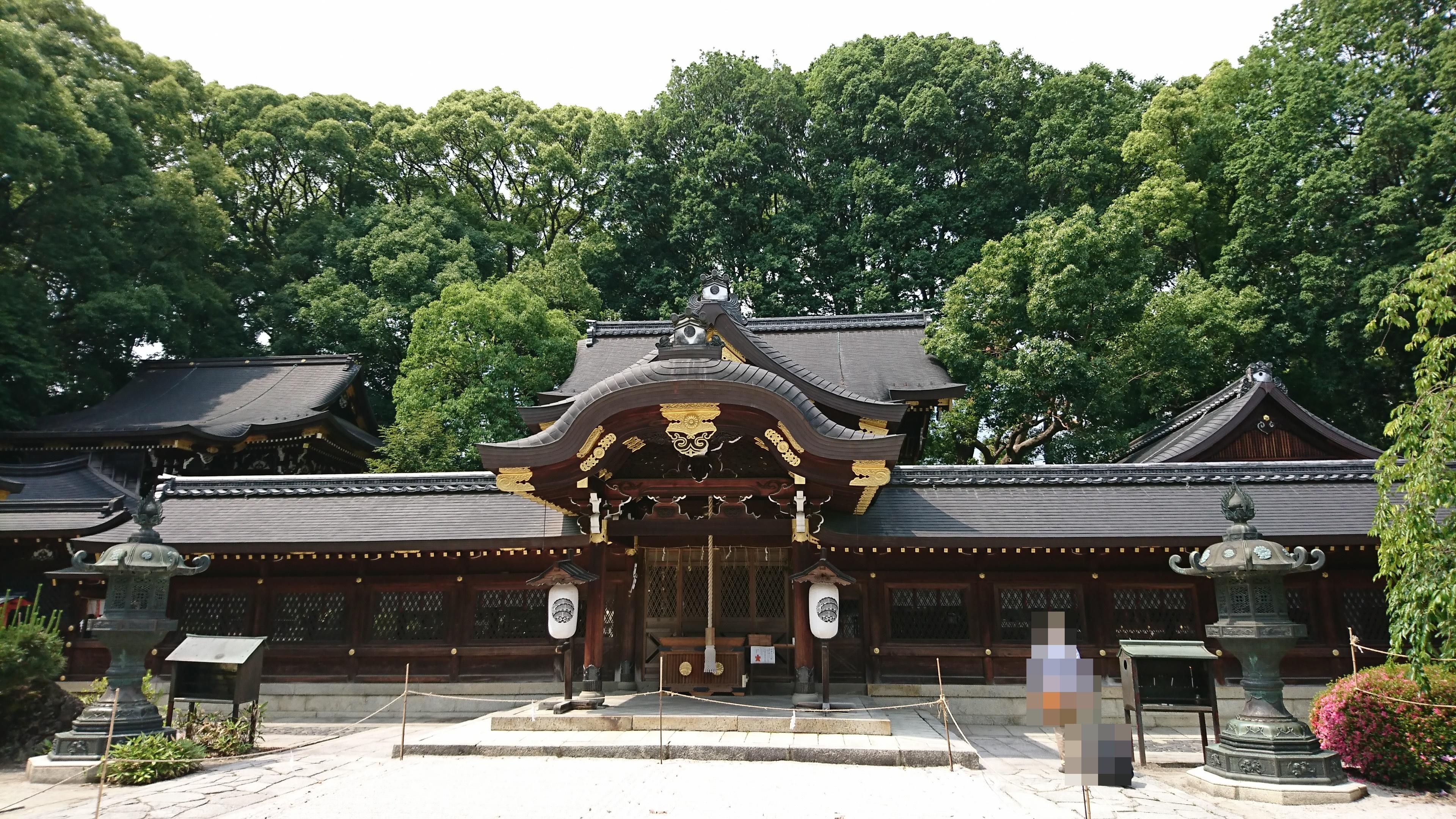 京都の今宮神社のご本殿