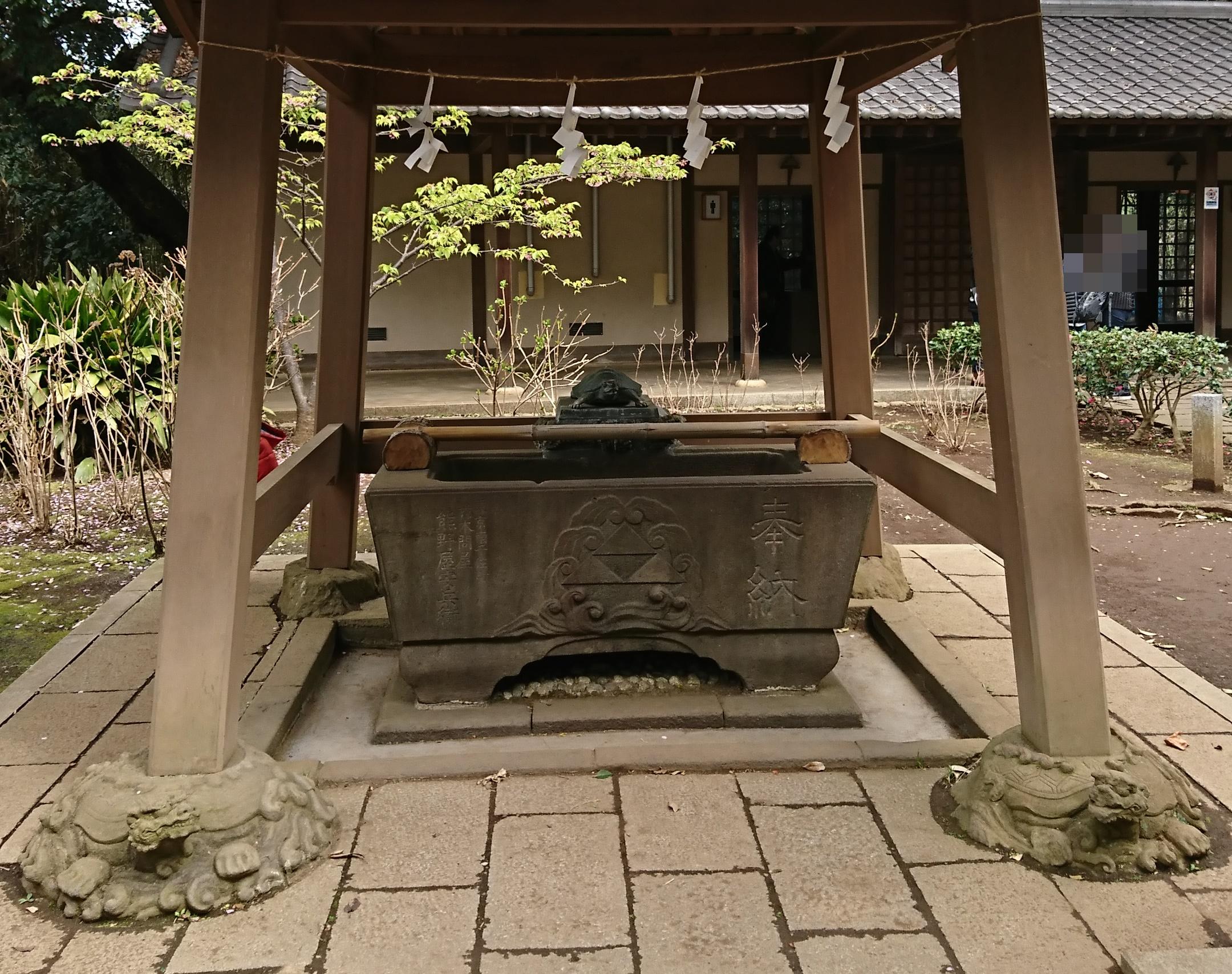 江ノ島神社の奥津宮の手水舎