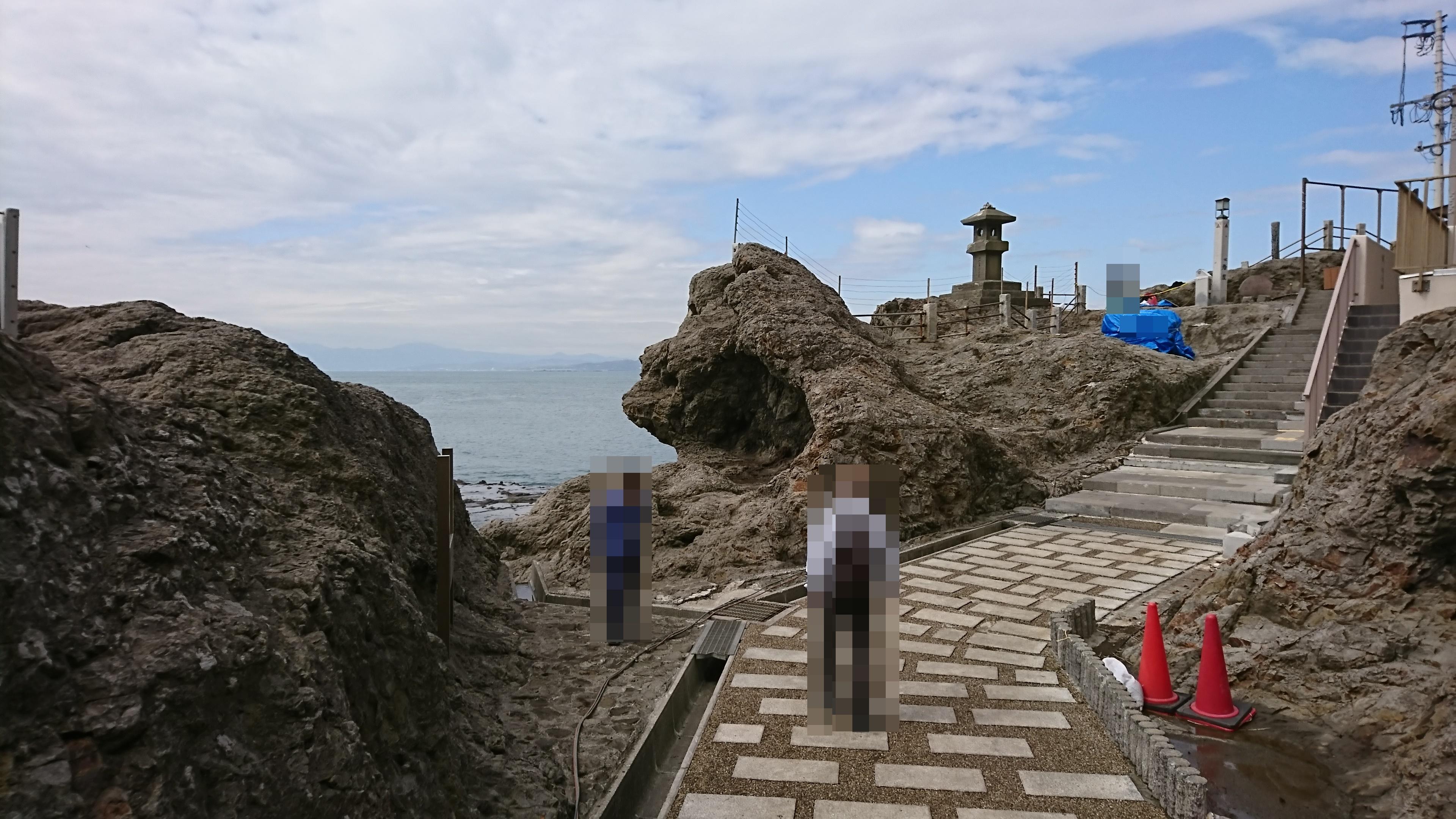 江ノ島神社の稚児ヶ淵