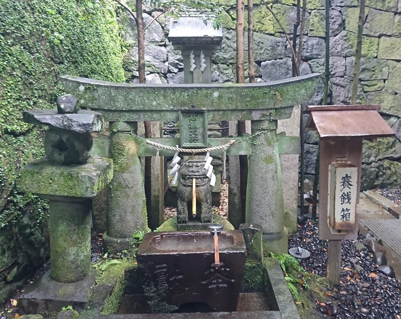 長崎諏訪神社の金運アップと安産の高麗犬(こまいぬ)の井戸(銭洗い井戸