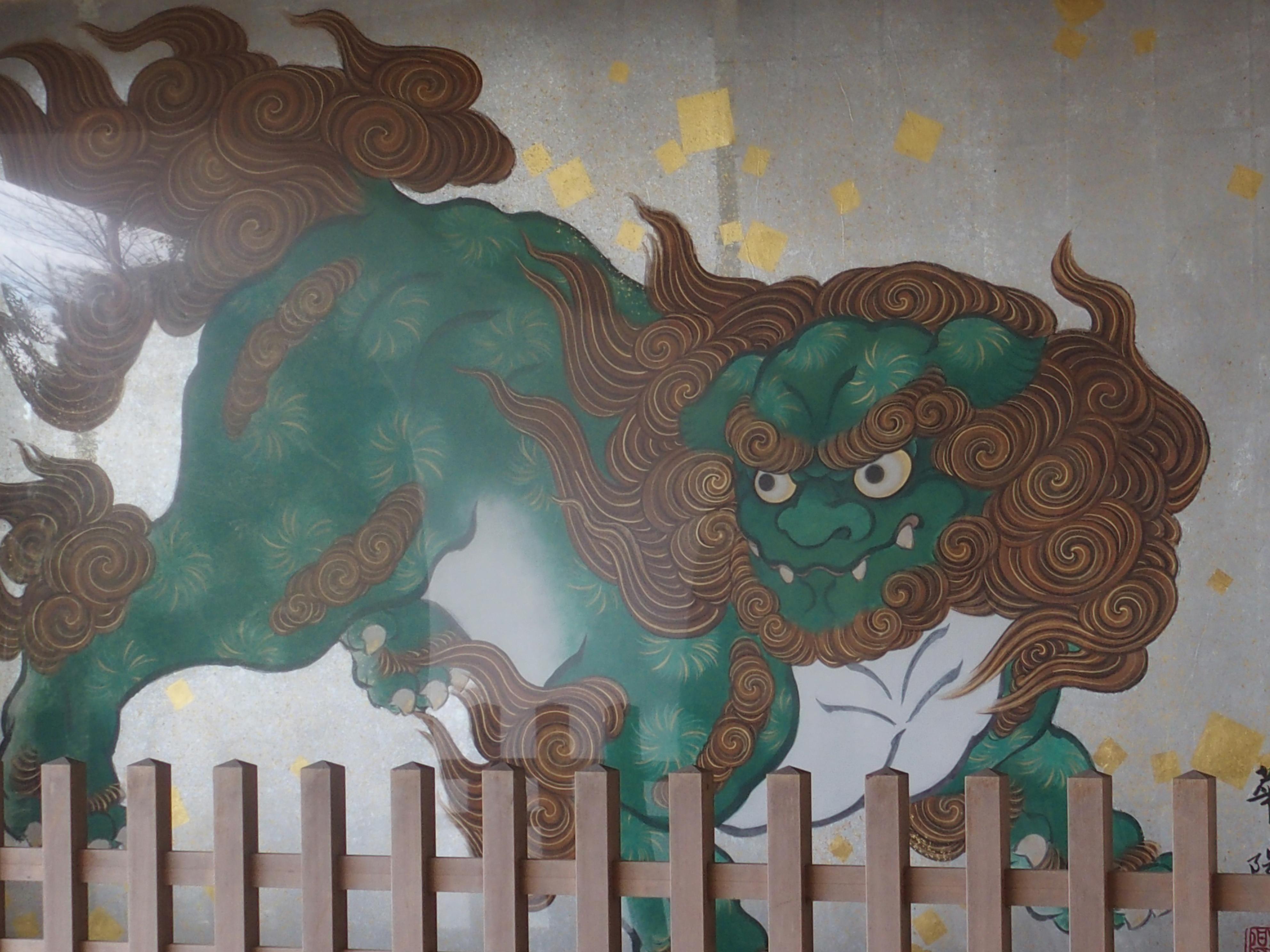 江ノ島神社の瑞心門の唐獅子