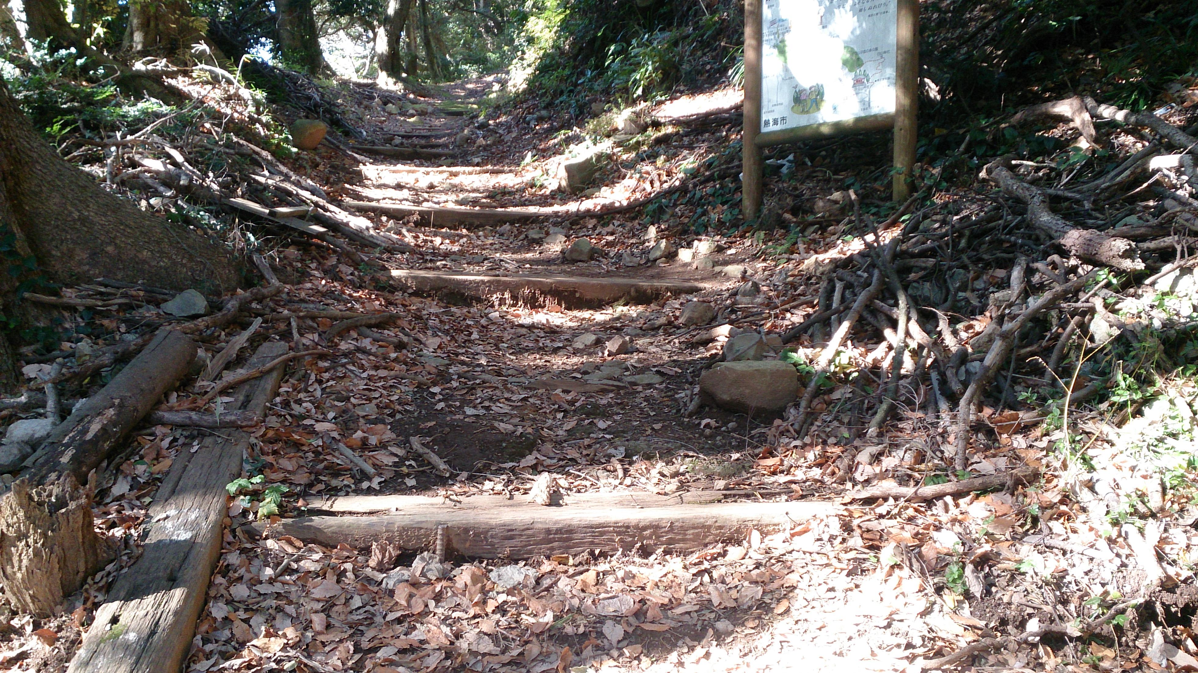 伊豆山神社のご本殿から本宮へ続く登山道