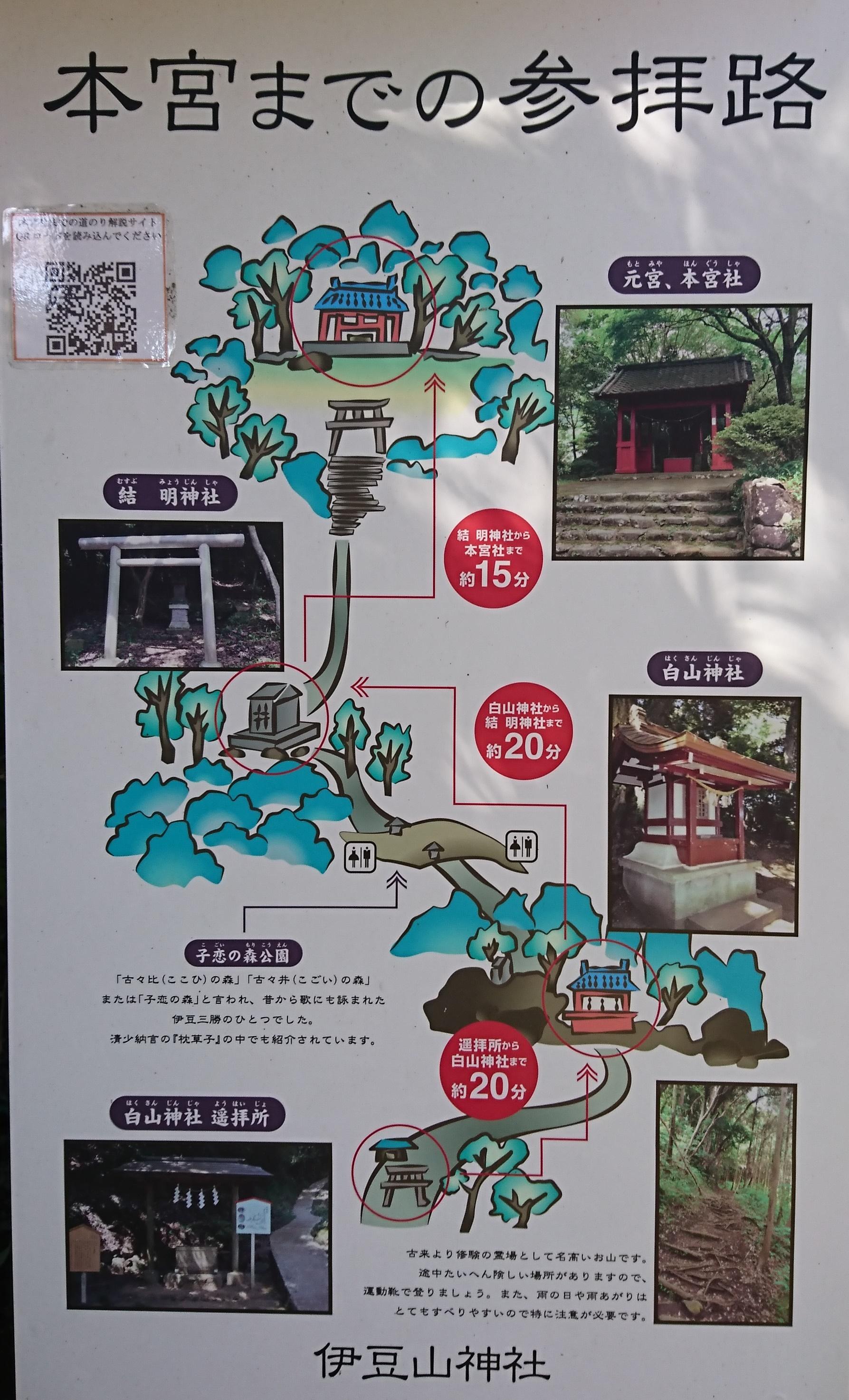 伊豆山神社本宮までの地図