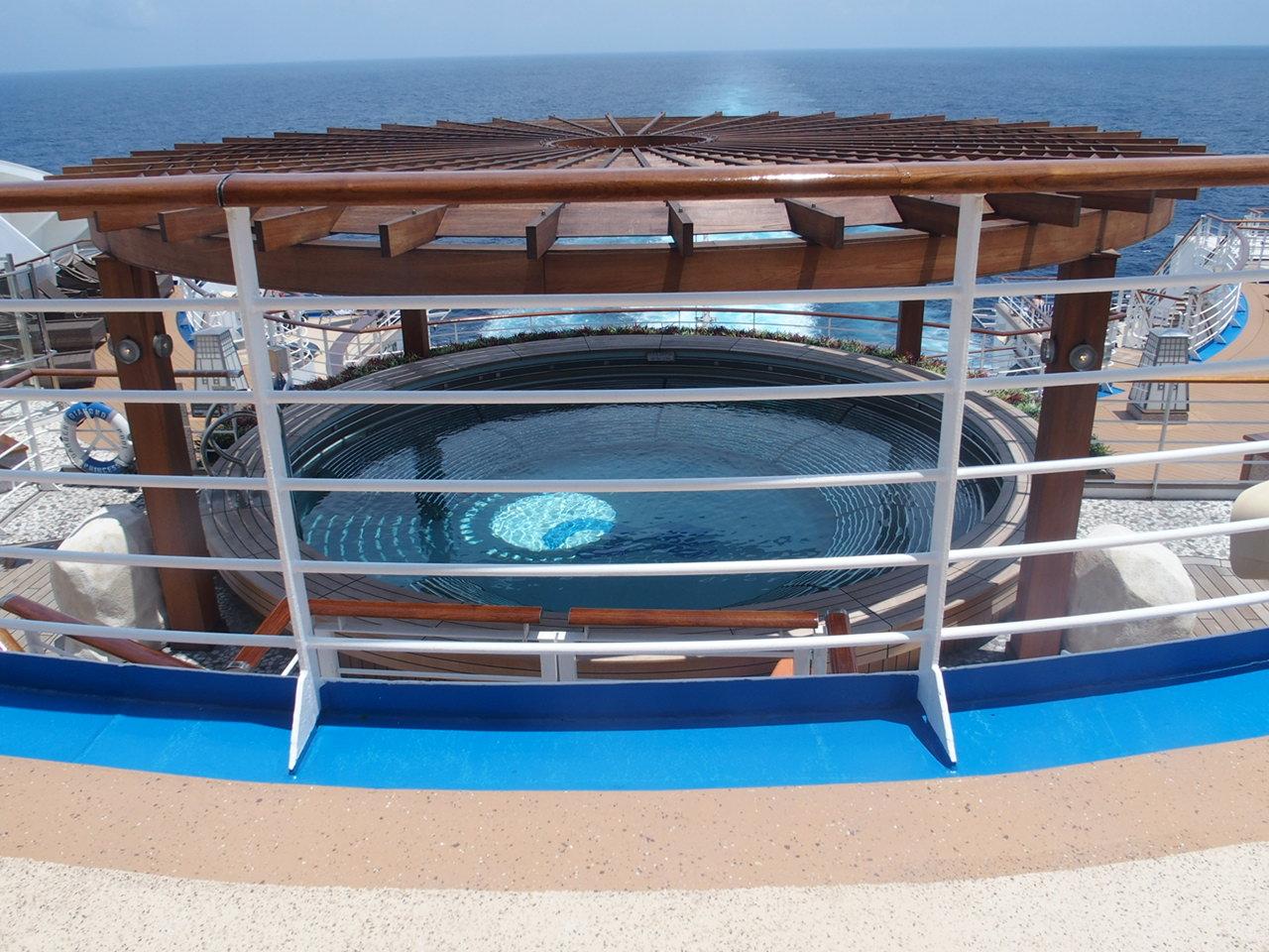 ダイヤモンドプリンセスの展望浴場泉の湯