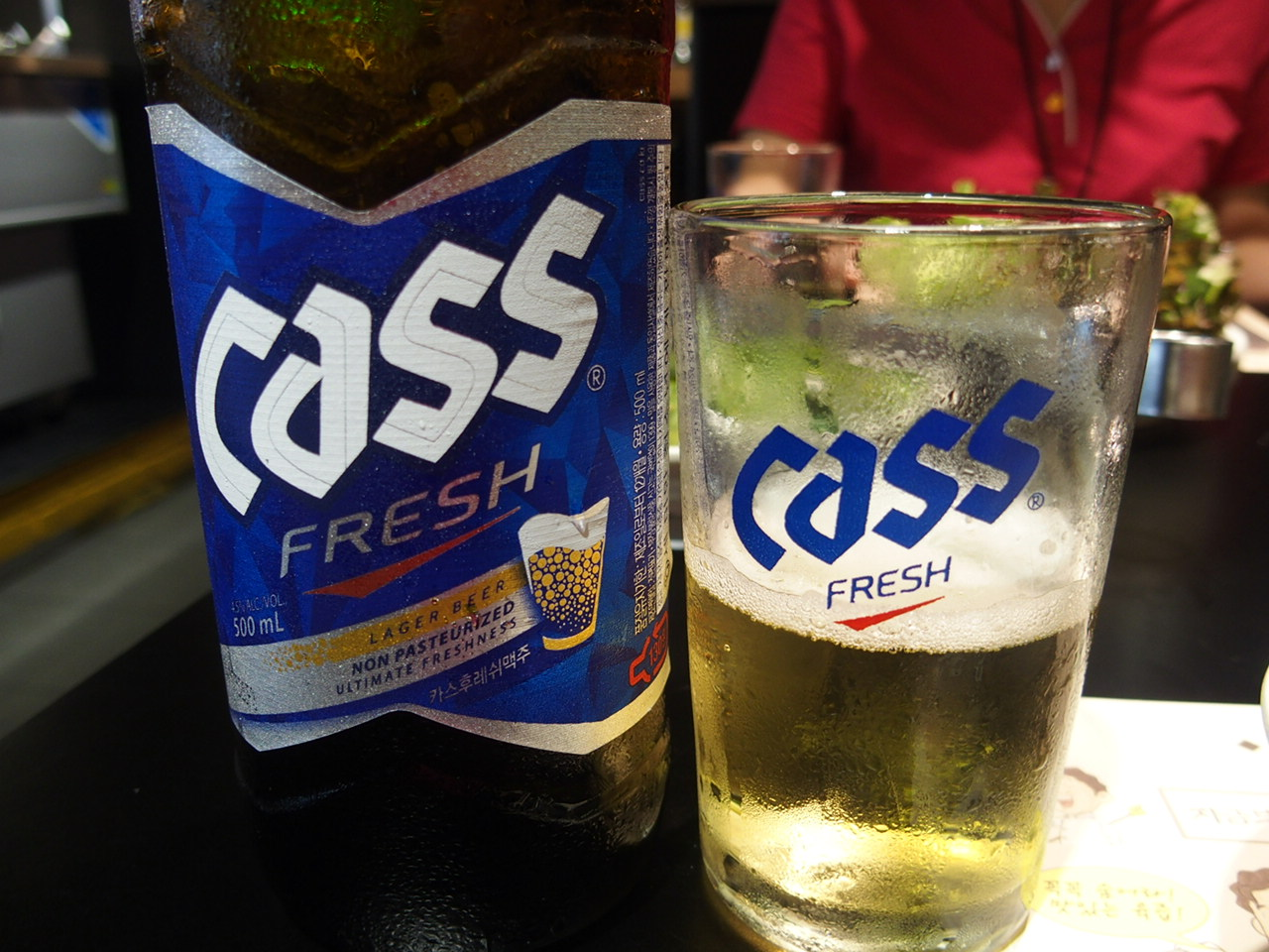 釜山の焼肉チャルドバキで飲んだビール