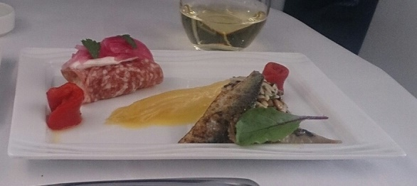 ANAビジネスクラス機内食洋食メニュー