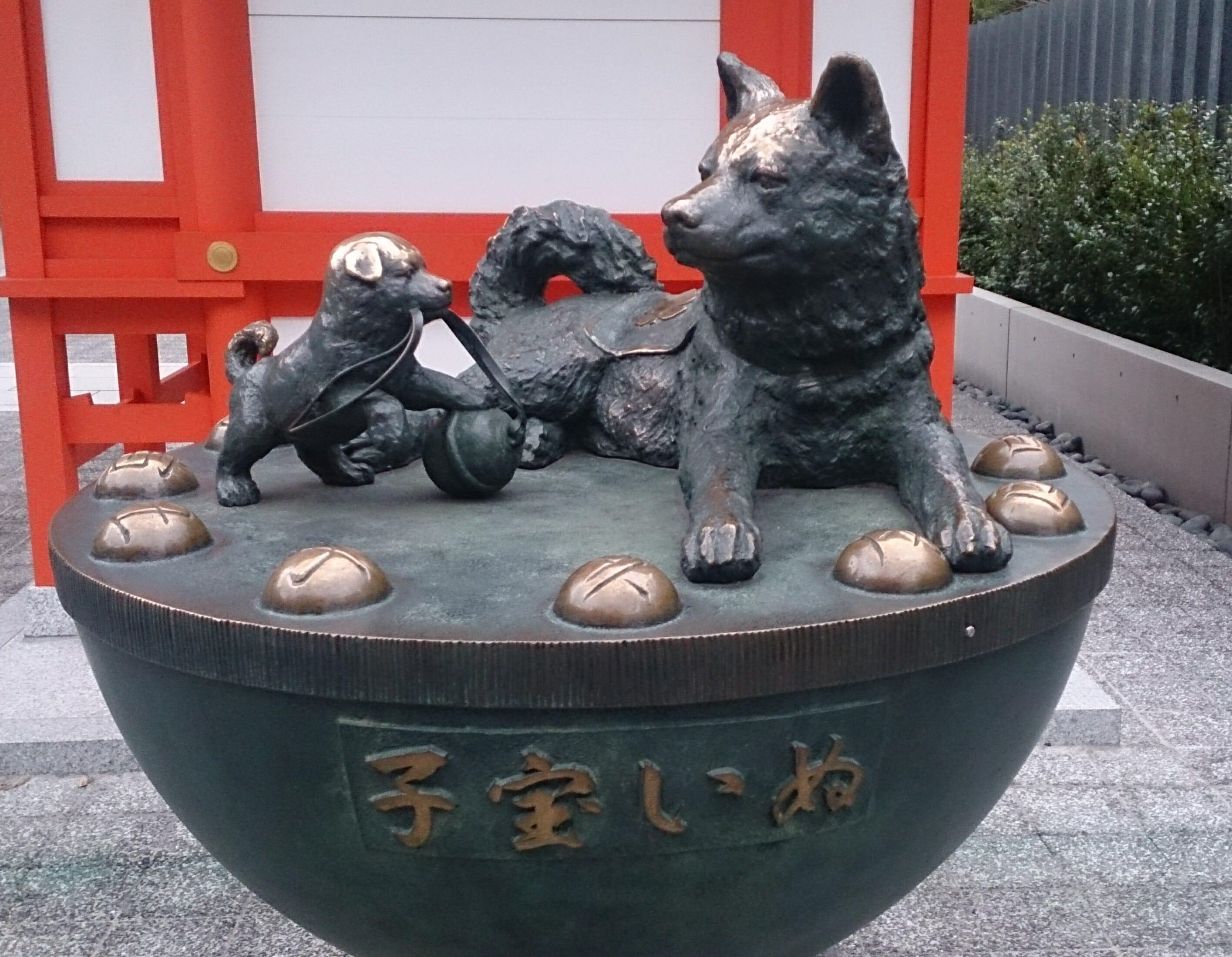日本橋水天宮の子宝犬