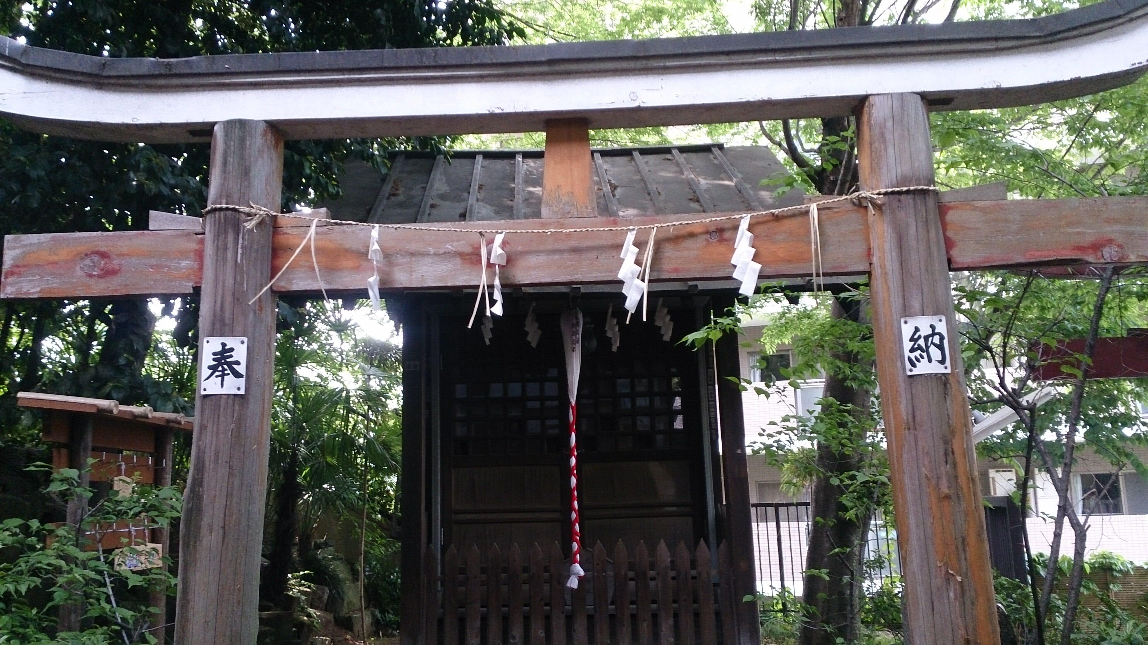 水稲荷神社境内にある早稲田大学合格のパワースポット北野神社