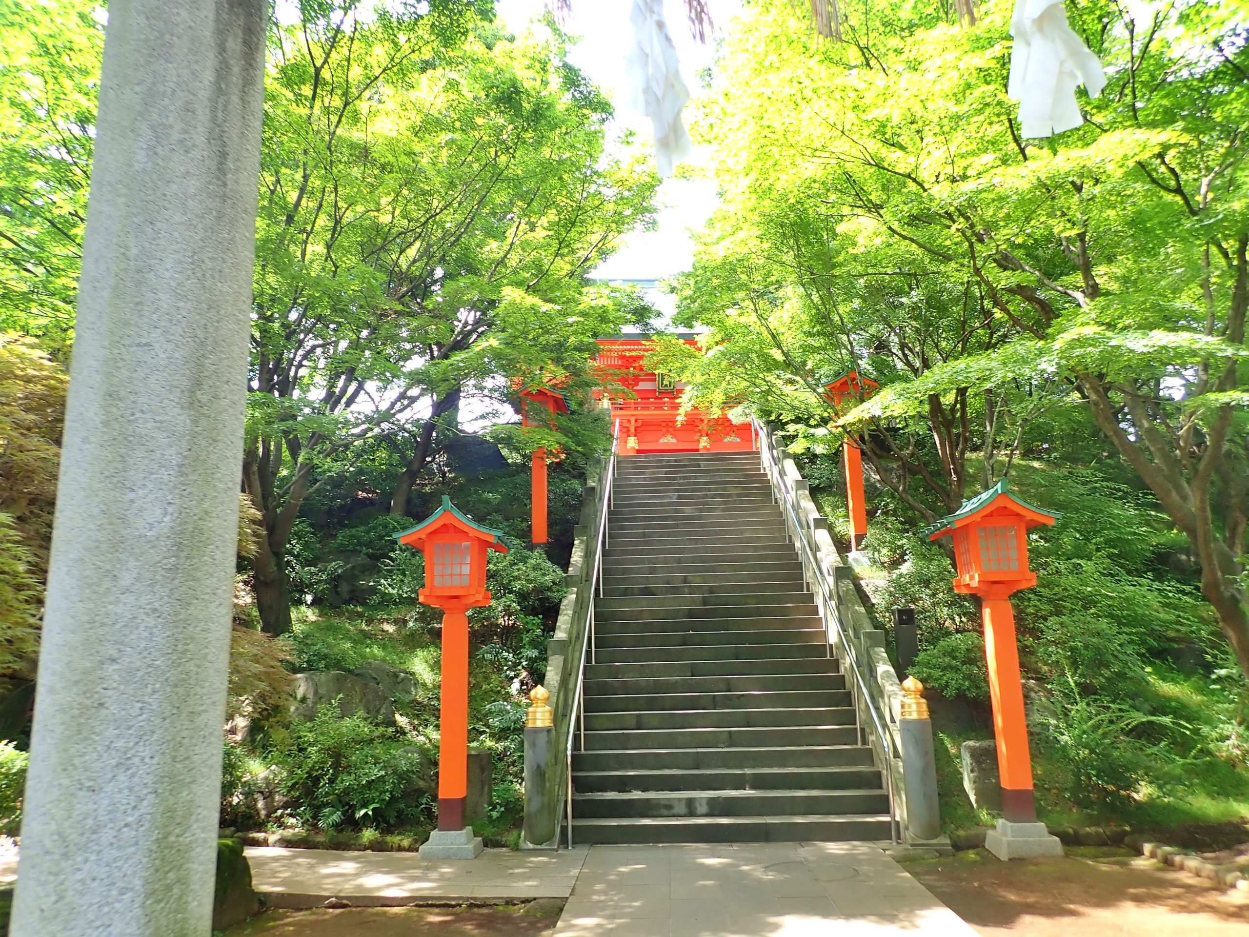 穴八幡宮の参道