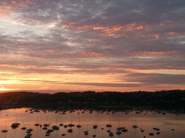オンダリビアのホテルパラドールから見える景色