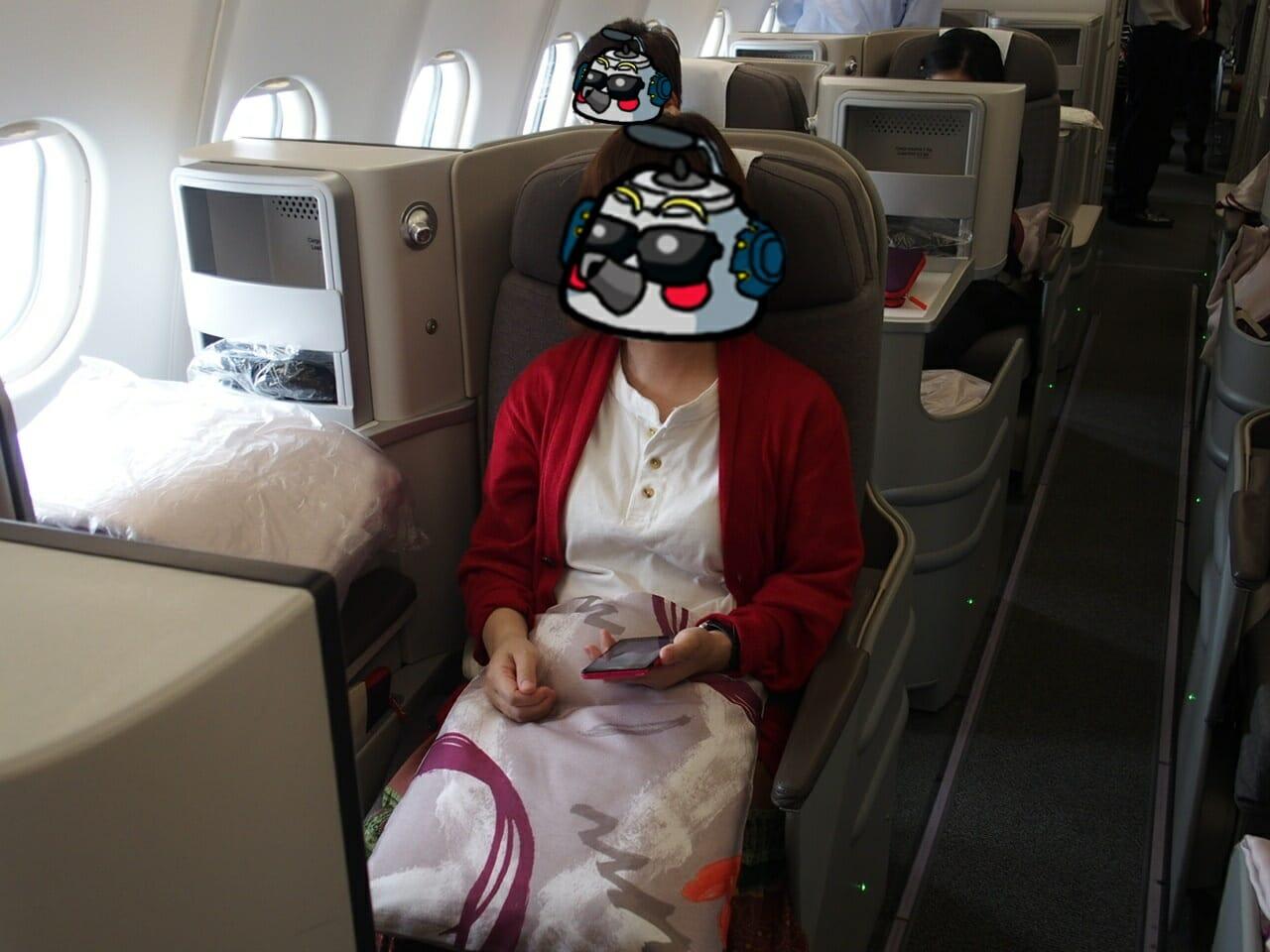 イベリア航空ビジネスクラスの機内