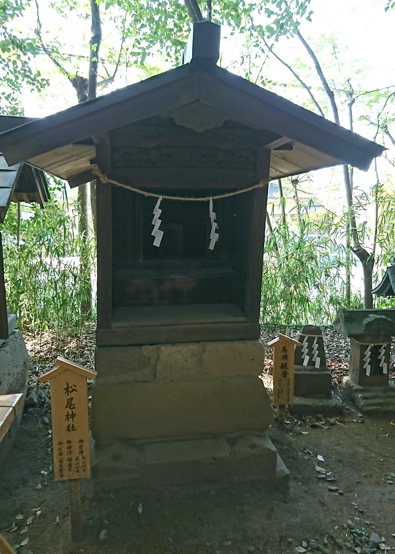 川越氷川神社の境内にある松尾神社