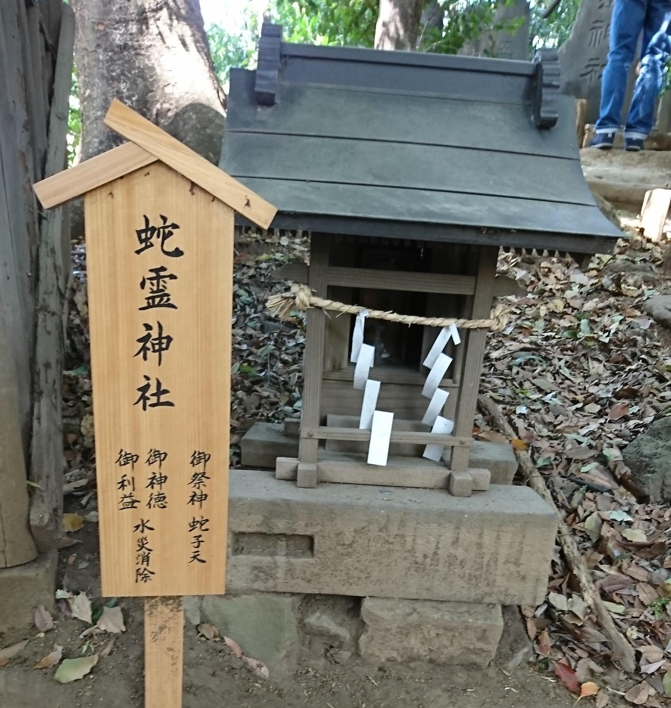 川越氷川神社の境内にある蛇霊神社