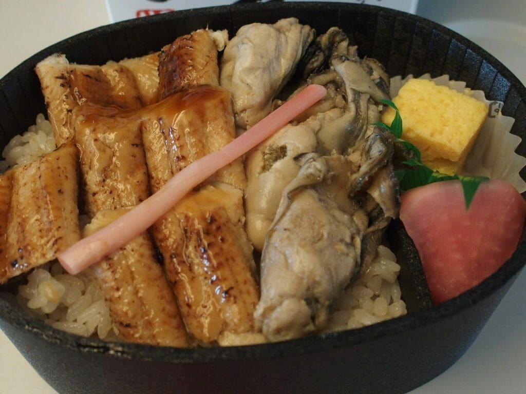 牡蠣と炙り煮あなご弁当 こばやし