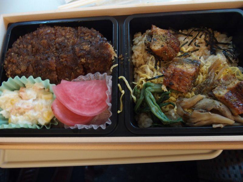 東京駅で買った駅弁味噌カツ・ひつまぶし風弁当