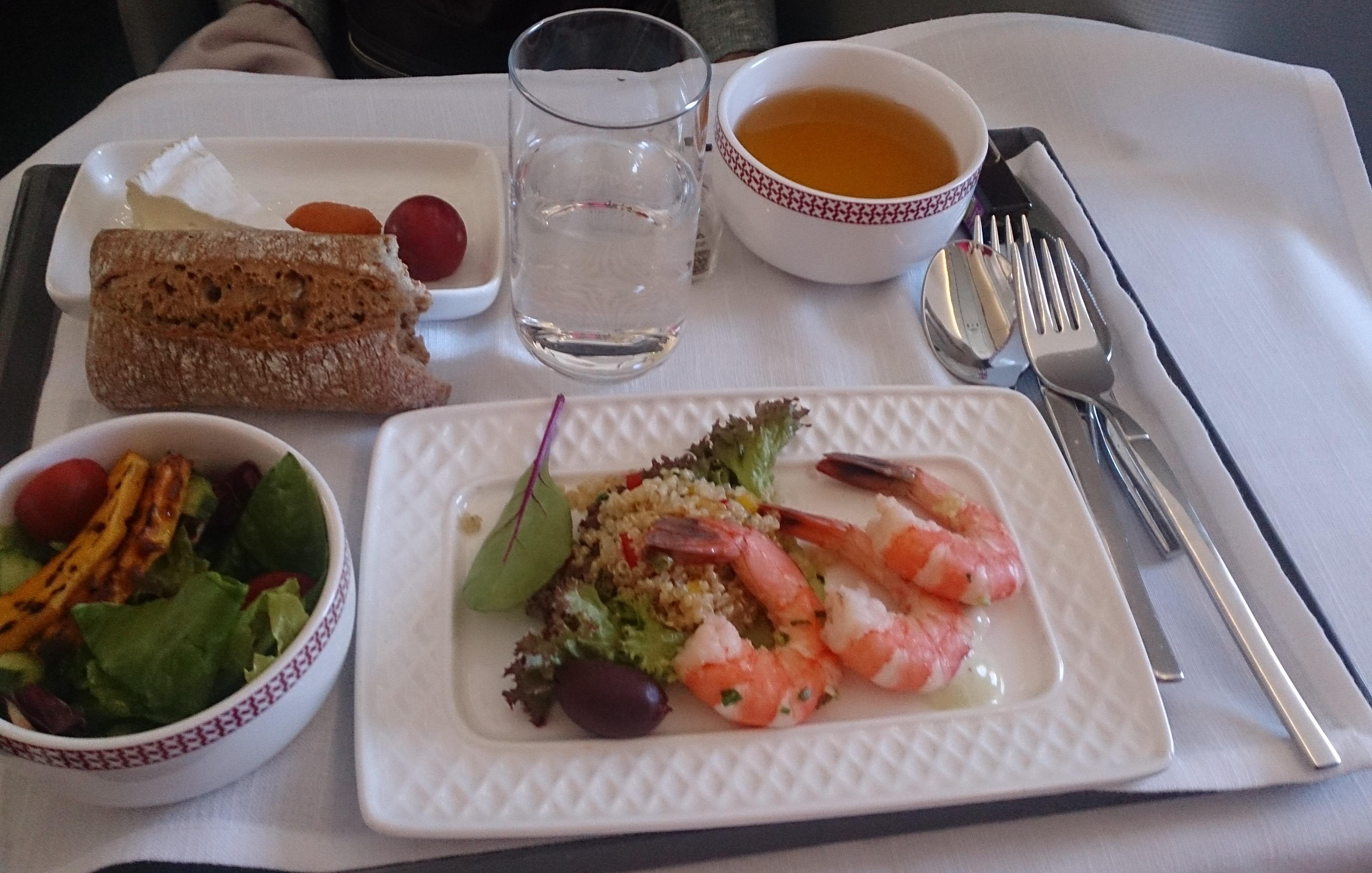 イベリア航空ビジネスクラスの機内食