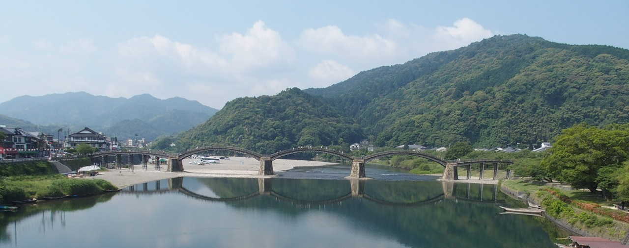 山口県岩国市の錦帯橋が全部入る撮影スポット
