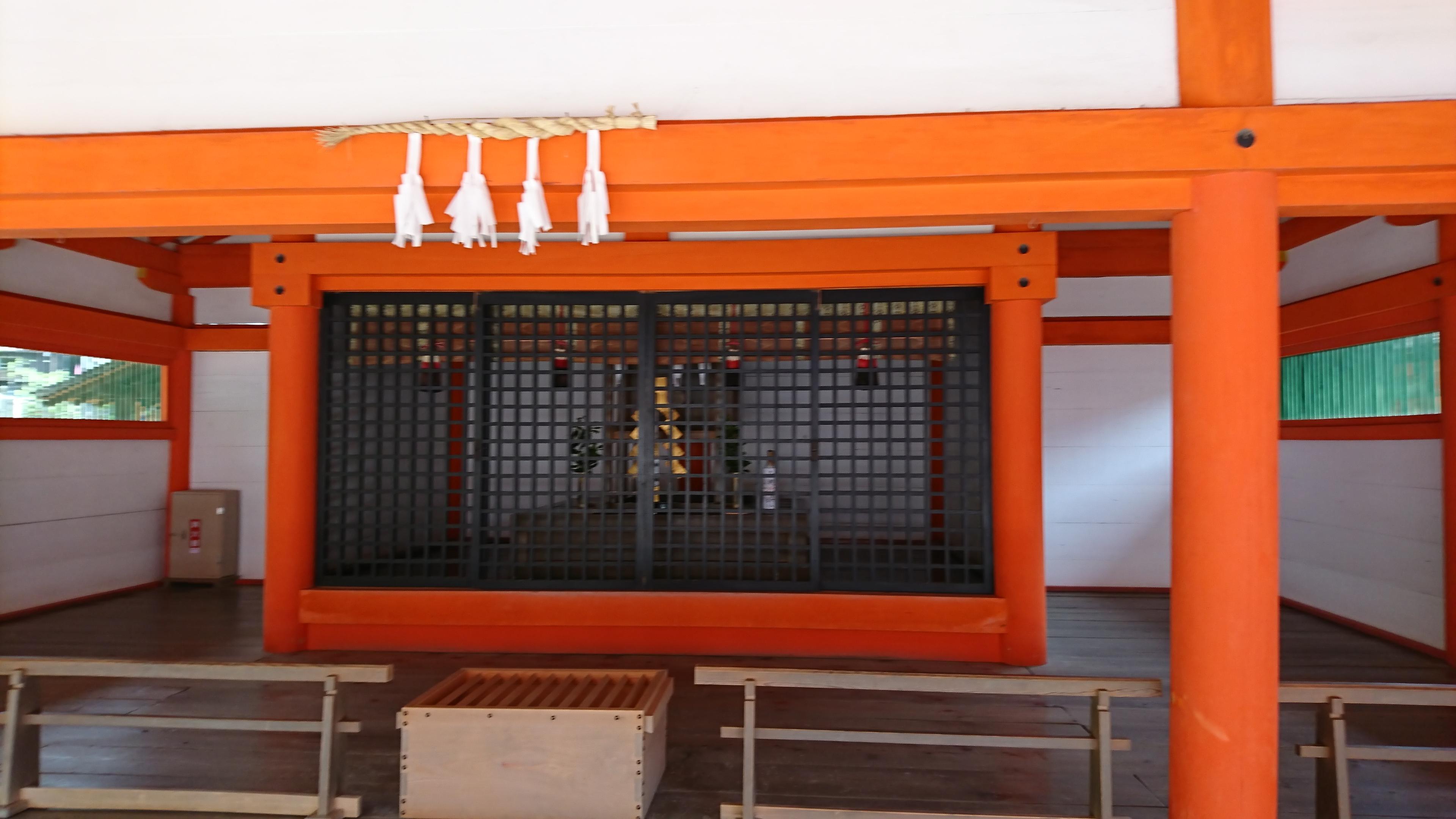 広島県宮島の世界遺産厳島神社で縁結びのご利益がある大国主社