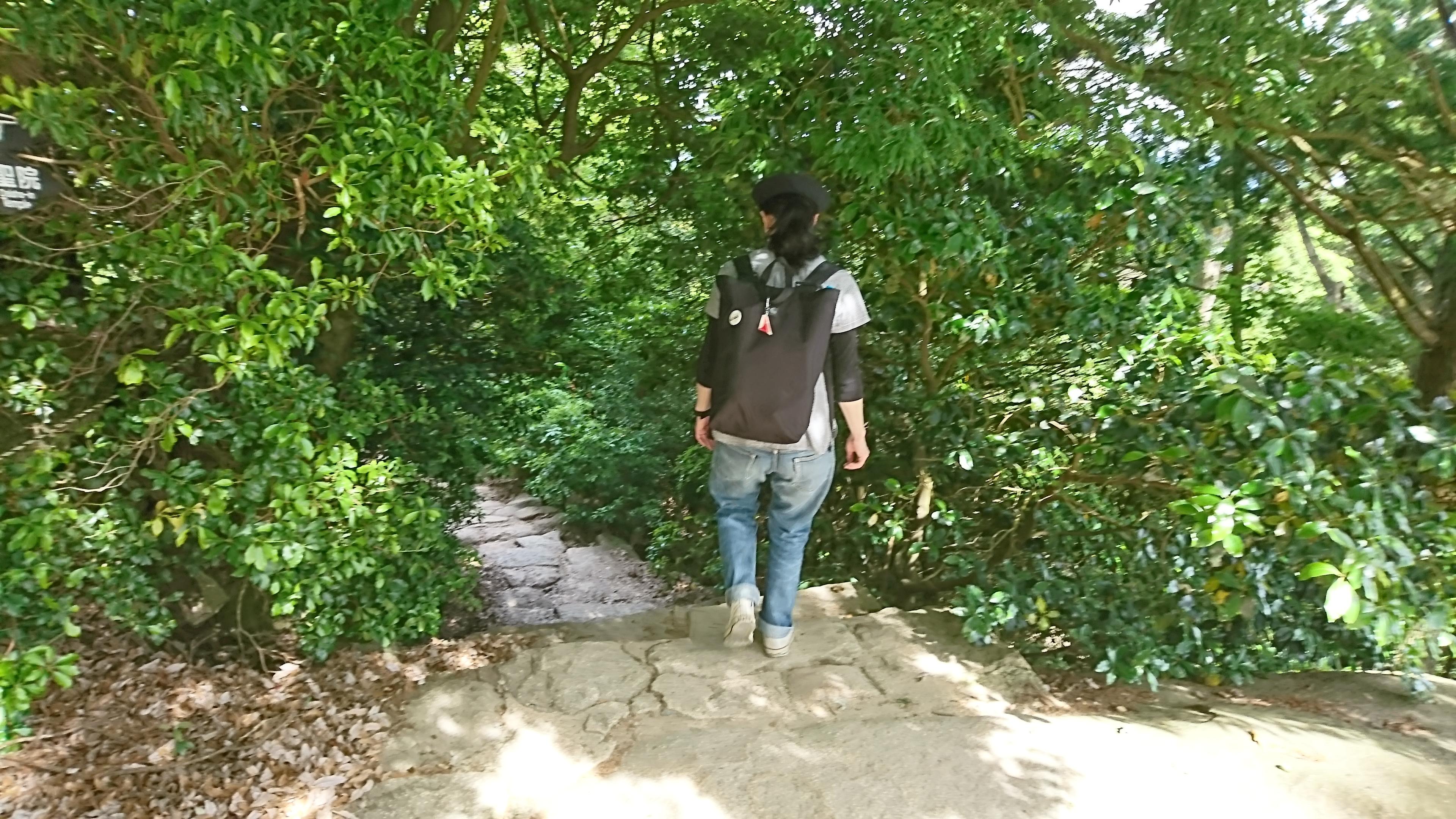 宮島ロープウェイから展望台までの道のり
