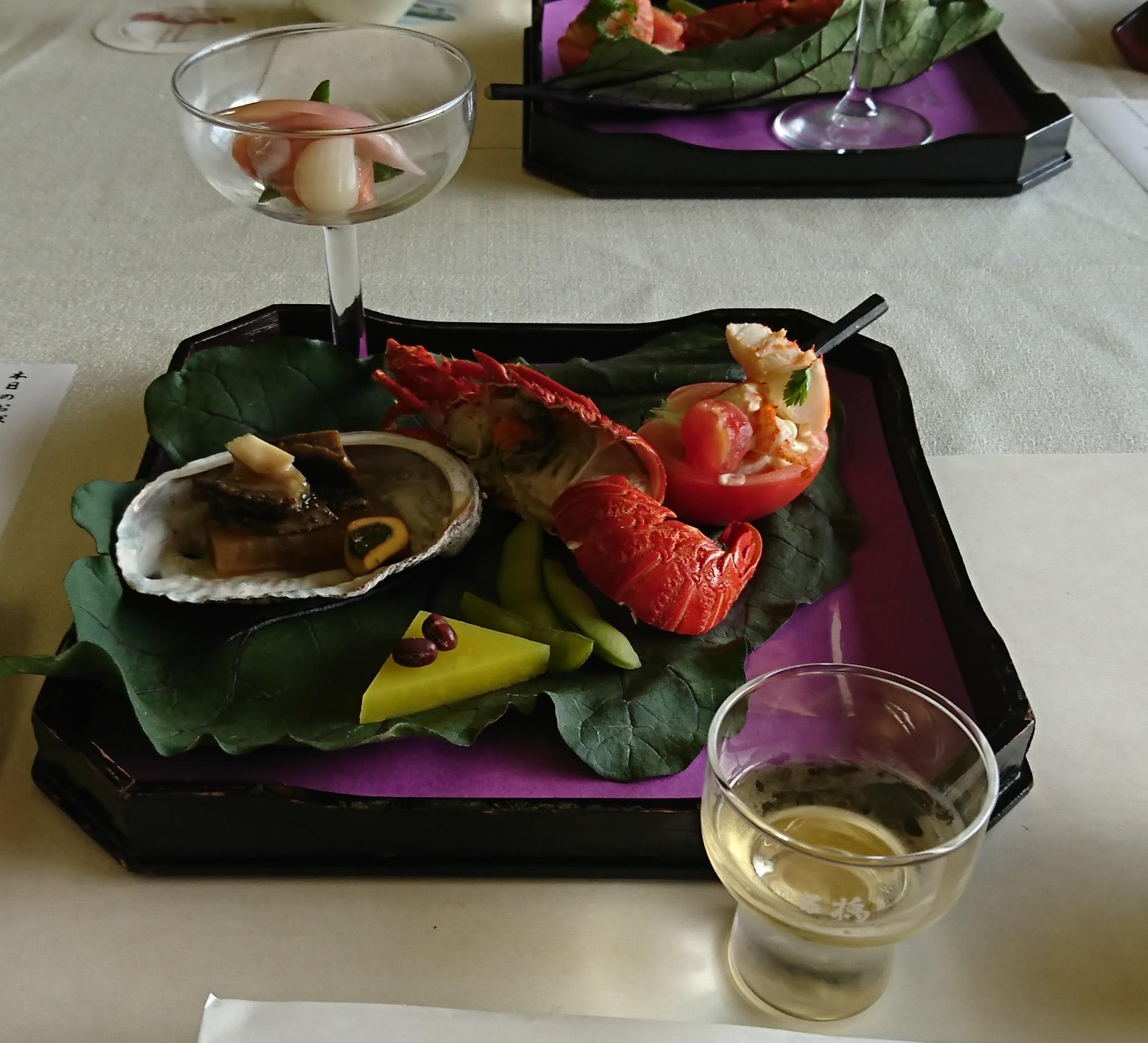 岩国国際観光ホテルの夕食