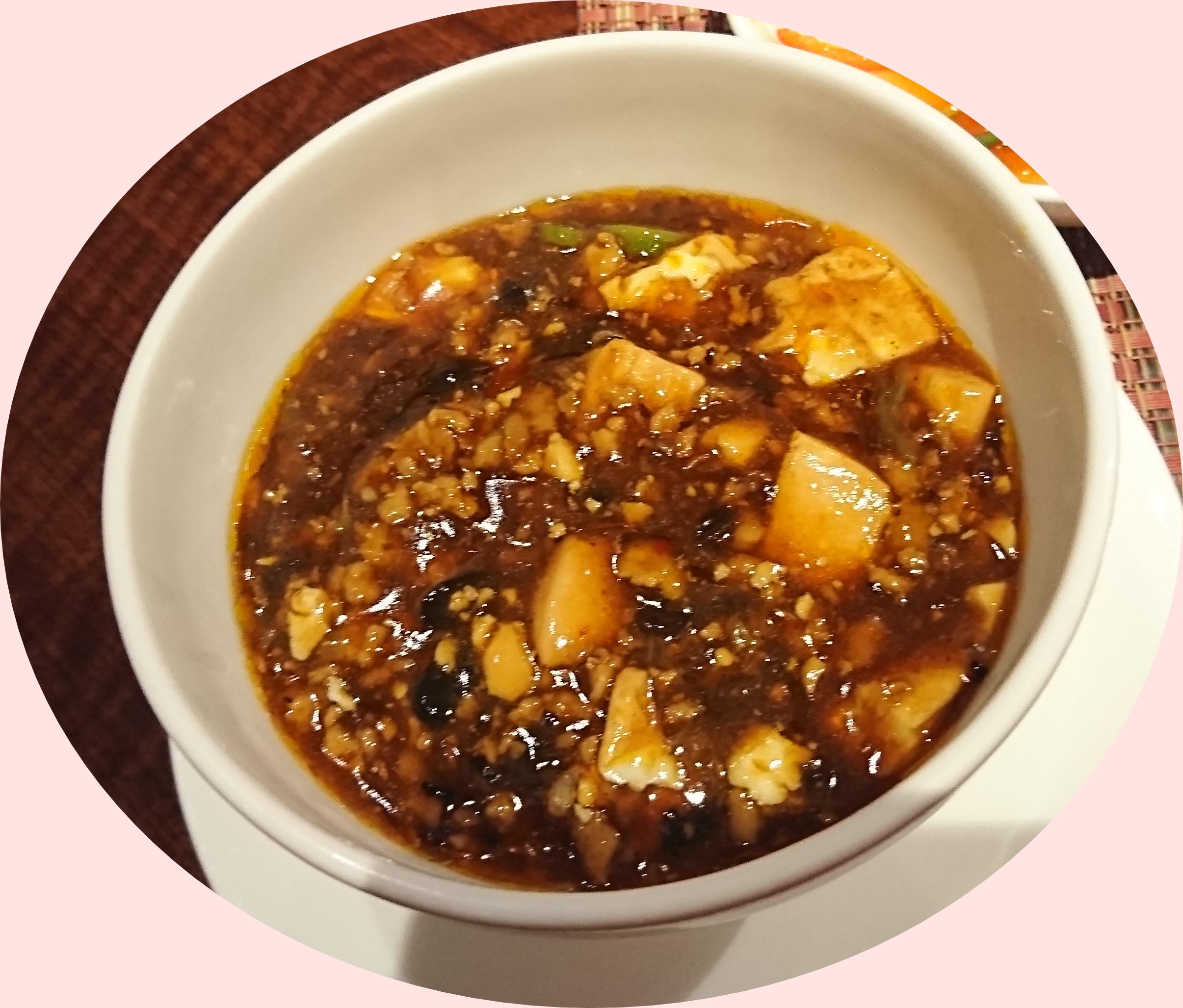 新神戸ANAクラウンプラザの34階にある中国レストラン蘇州の麻婆豆腐