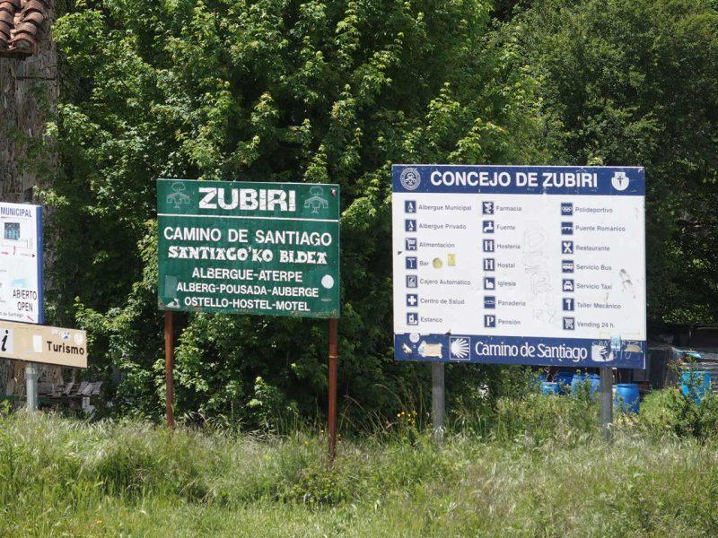 巡礼の道Puet erroからZubiriまでの道のり