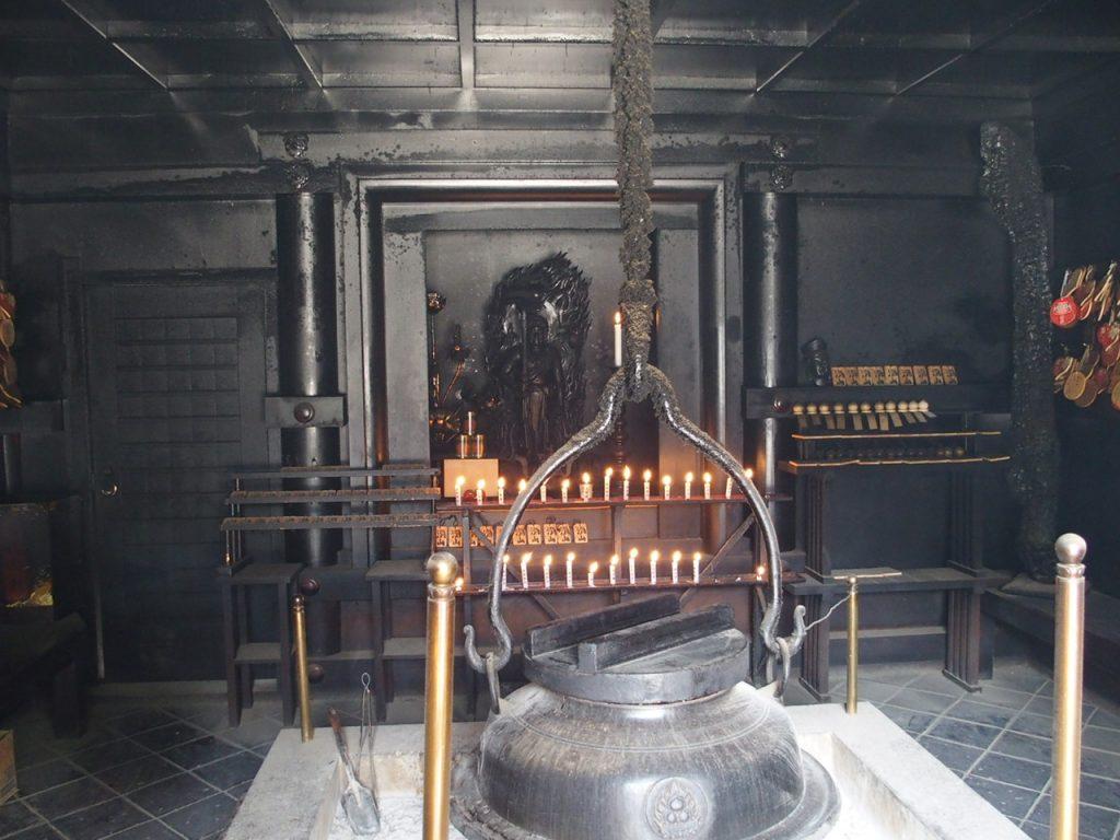 宮島弥山の恋人の聖地霊火堂の消えずの火