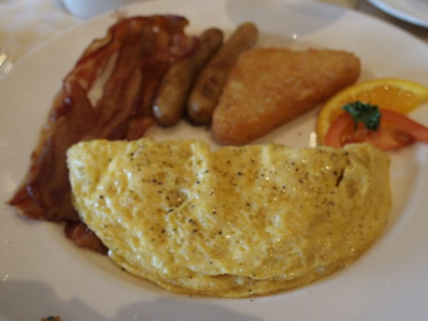 ダイヤモンドプリンセススイートルームの特典サバティーニの朝食