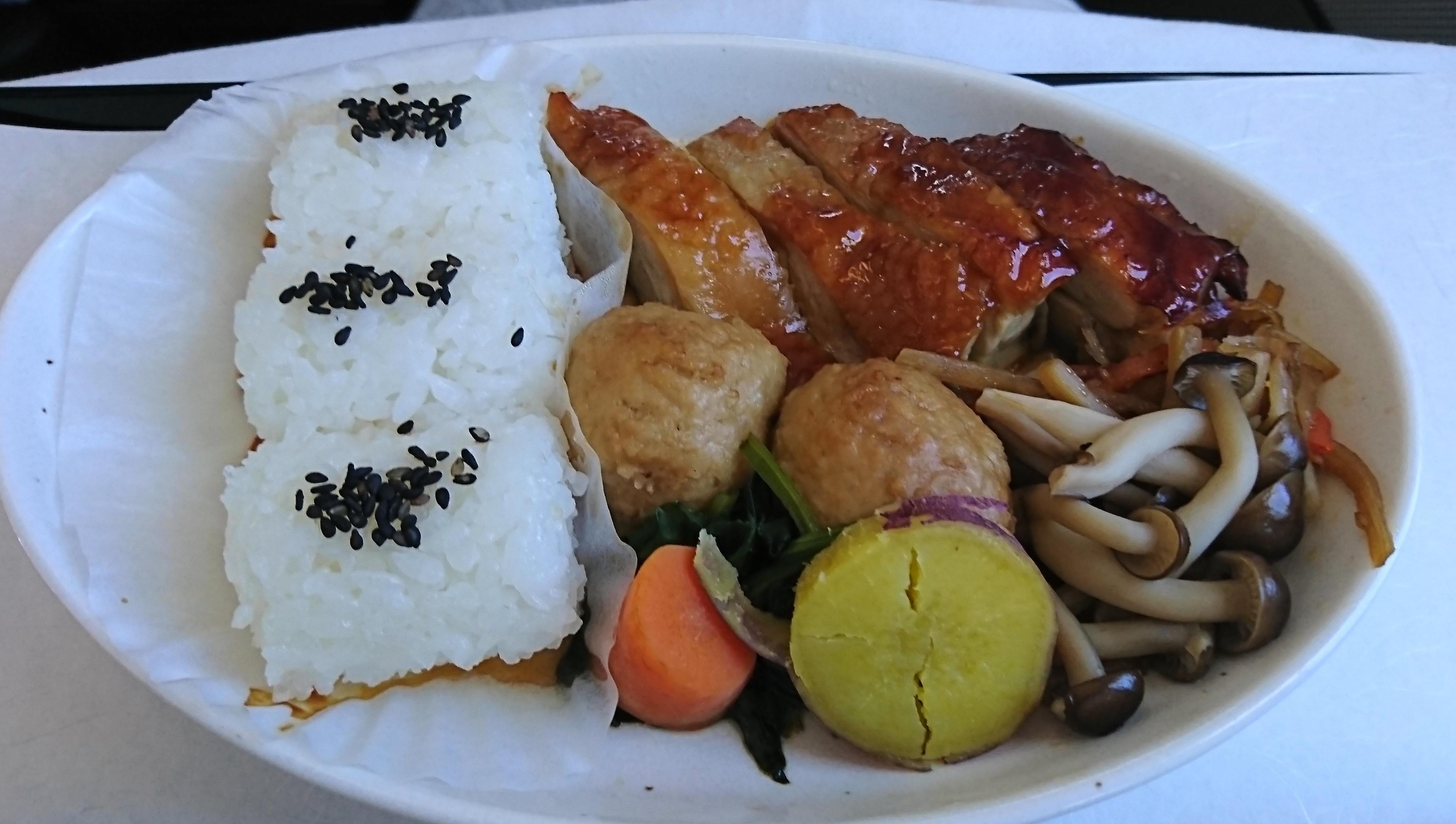 日本発ルフトハンザビジネスクラスの和食のメインは名古屋コーチン