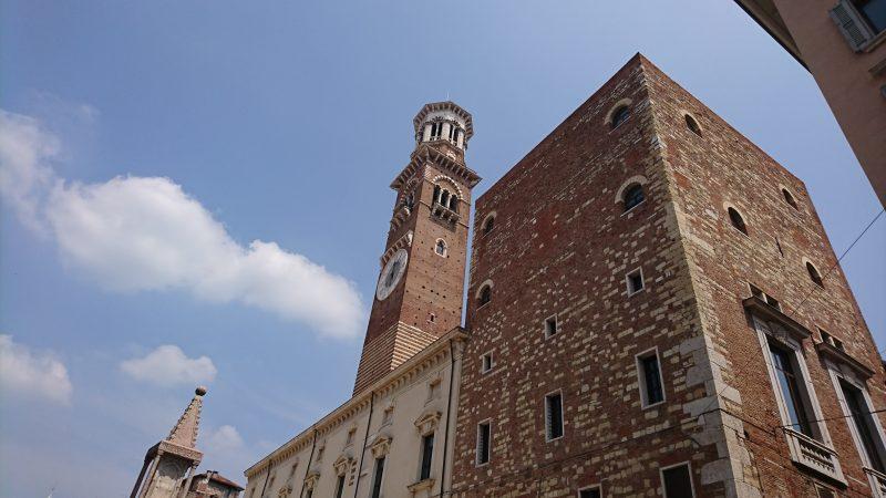 ヴェローナの観光地ランベルティの塔