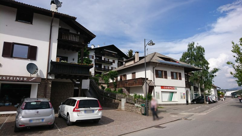 イタリアボルツァーノの街からロープウェイにのってやってきたソプラボルツァーノ