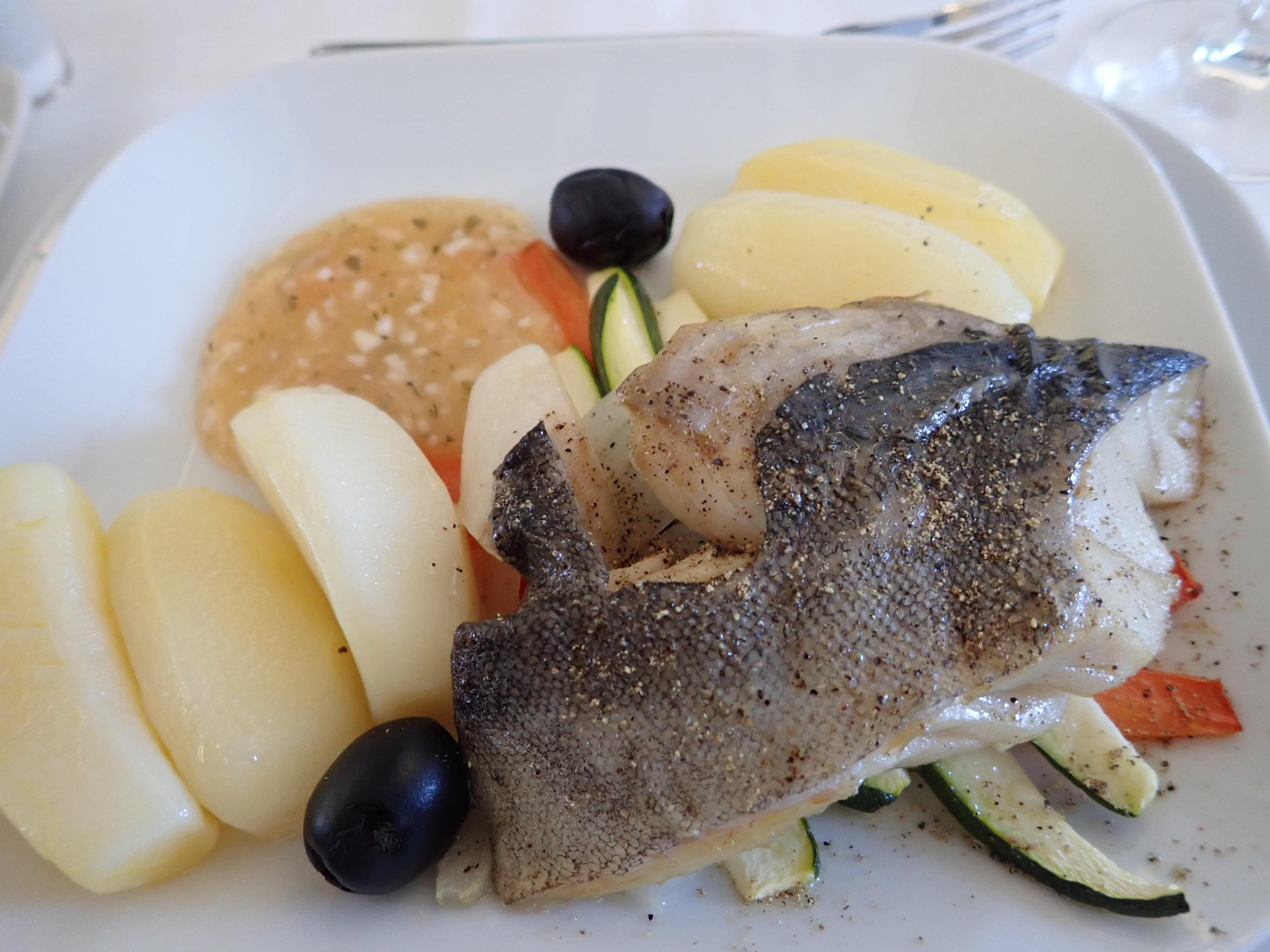 日本発ルフトハンザビジネスクラスの洋食