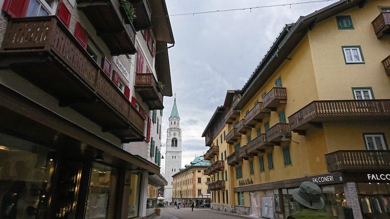 コルチナダンペッツォの街の散策