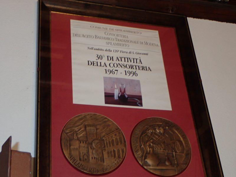 バルサミコ酢で有名なイタリアモデナの街でバルサミコ酢の醸造所を見学