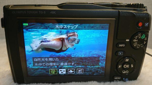 オリンパスの防水デジカメTG-5