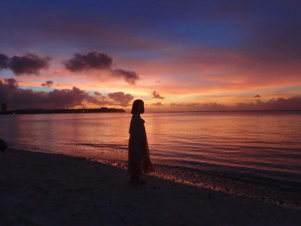 オリンパスTG-5で夕日を撮影しました。
