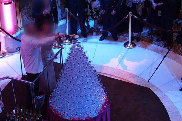 ダイヤモンドプリンセス行われるカクテルパーティ
